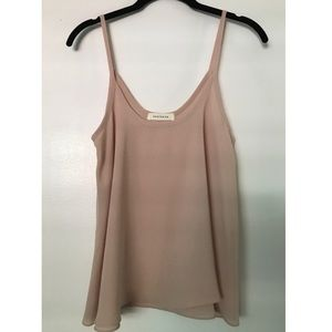 Light pink chiffon-like tank